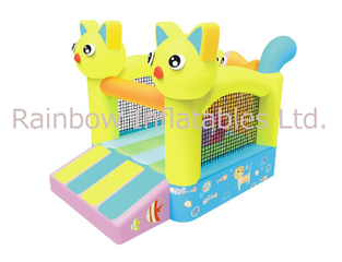 RB01004(4x4m)Inflatable Cat and Fish Bouncer for Kids (RB01004)