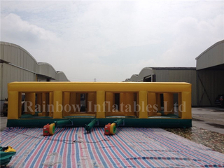RB91010(11x9m)Inflatable rainbow maze sports game