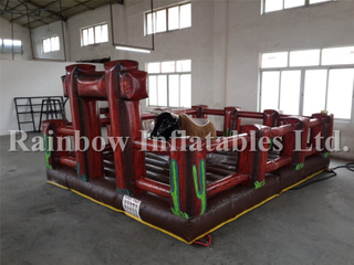 RB9124-5(5x5m)Inflatable Bull Game/ Inflatable Mechanical Bull Riding Game