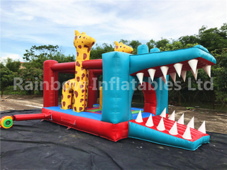 Outdoor Commercial Crocodile Shape Inflatable Bouncers