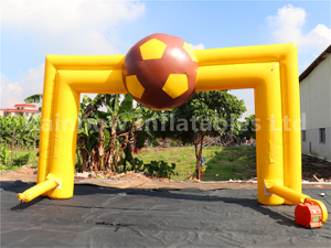 RB21052(6x4m)Inflatable yellow football theme Arch for sale
