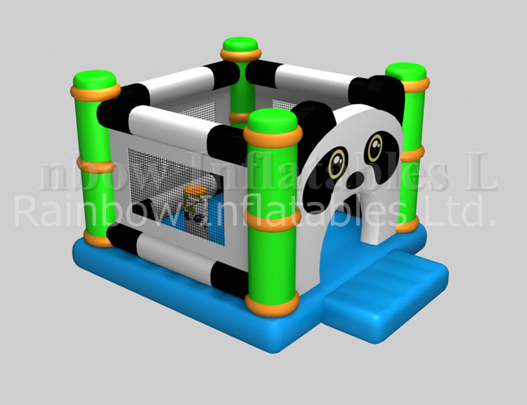 RB01041(4x4.5m)Inflatable High qualiy Panda bouncer on sale