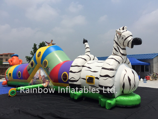Rainbow Inflatable tunnel crawl game