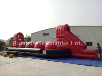 RB9004-1(12x6.3x4.3m)Inflatable interactive games outdoor big baller wipeout game