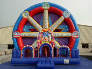 Inflatable Commercial Ferri Wheel Combo Castle For Theme Park