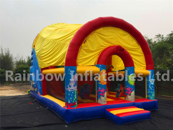 RB6097(9x5.2x6.8m) Inflatable Ocean theme dry slide