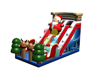 RB06110(14x9x7m)Inflatable Christmas theme snowman slide for sale
