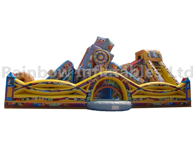 Giant Commercial Durable Inflatable Robot Playground