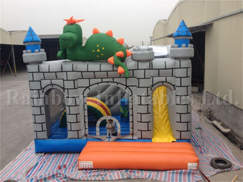 Big Commercial Inflatable Dinosaur Castle for Children