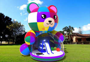 New Design Cute Inflatable Bear Play Ground for Outdoor