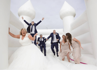 Latest trend in wedding fun - Wedding bounce house