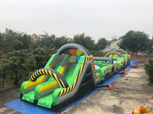 30 Metre Atomic Rush Obstacle Course & Slide