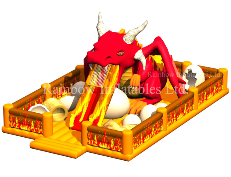 RB01043 (7x11x5m)Inflatable Dragons Funcity Playground