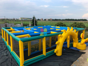 Outdoor Inflatable Sunflower Maze Laser Tag Inflatable Maze For Sale