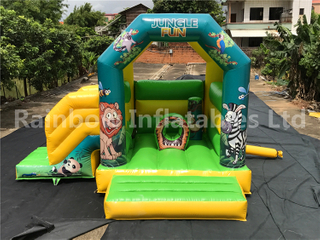 Outdoor Commercial Jungle Theme Inflatable Combo for Kids
