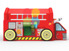 Fire Department Firemen Fire Truck Theme Inflatable Combo Jumping Bouncer with Small Slide for Kids Play