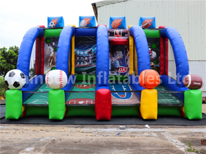 Popular Commercial Inflatable Basketball Games Sport Play Games for Rental