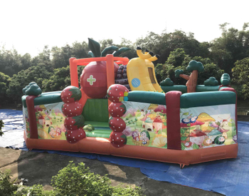 Rainbow New design 3D fruit inflatable fun park for kids