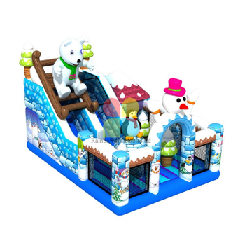 Polar Bear Inflatable Slide Obstacle Perfect for Kids
