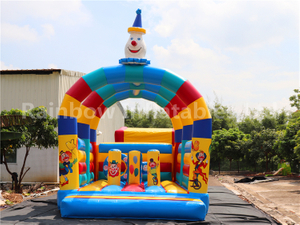 Outdoor Commercial Clown Inflatable Bouncers for Kids