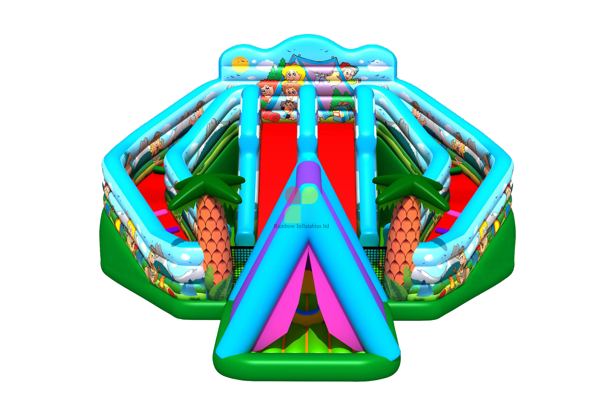 RB01024(10x10m) Inflatable jungle funcity for sale