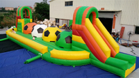 Inflatable big baller wipe out game
