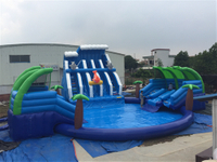 Inflatable water park for ground use