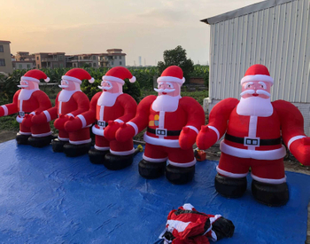 Inflatable Rainbow santa claus for sale