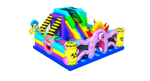 Rainbow New Design of Monster Inflatable Slide Obstacle
