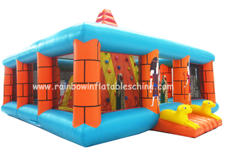 RB13010(8x8x6m)Inflatable Hot sale high quality climbing wall/climbing mountain/children inflatable rock climbing wall
