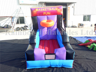 Small Outdoor Inflatable Basketball Toss Basketball Game Carnival Games for Sale