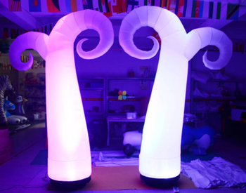 Gate Pillar Design Type Inflatable Garden Lamp Post for Sale