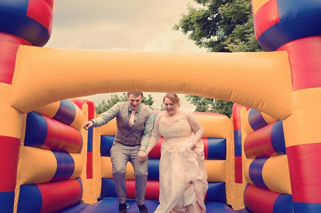 Wedding bouncer inflatables