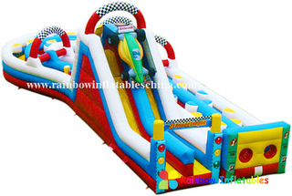 RB5001 (7x17x5.5m)Inflatable Colorful new design long obstacle courses equipment