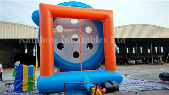 RB9041(4x5x1.5m) Inflatable rainbow football shot sports game