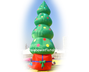 RB20020(4mh) Inflatable Rainbow christmas tree