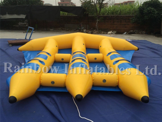 Outdoor Commercial Inflatable Flying Fish Banana Boat Flyfish Water Game for Summer