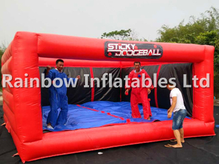 Big Indoor Commercial Inflatable Sticky Dodgeball Twister Game for Sale