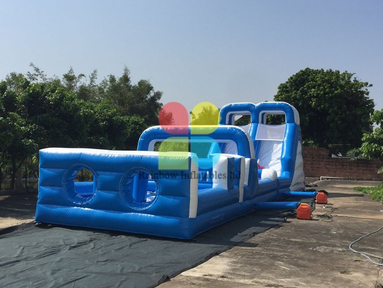 high-quality long Inflatable Obstacle Course for Child RB5208(18x4m )