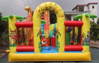 Commercial Inflatable Playground Deer Animal Zoo Playground