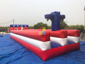 Adults outside Games Inflatable Bungee Run