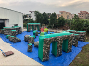 Inflatable Laser Tag Inflatable Paintball Bunker for Shooting Game