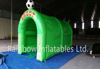 RB9098(6x3x3m) Inflatable Rainbow football shot game