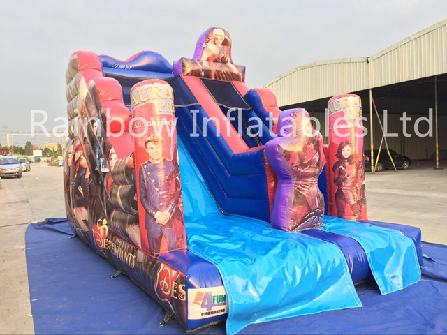Outdoor Commercial Inflatable Disney Film Dry Slide for Children