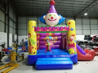 New Arrival Small Commercial Durable Inflatable Happy Clown Bouncer for Toddlers