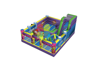 New Design Clown Inflatable Fun Park