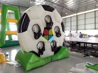 RB9040(3x3.5m)Inflatable football toss game soccer wheel