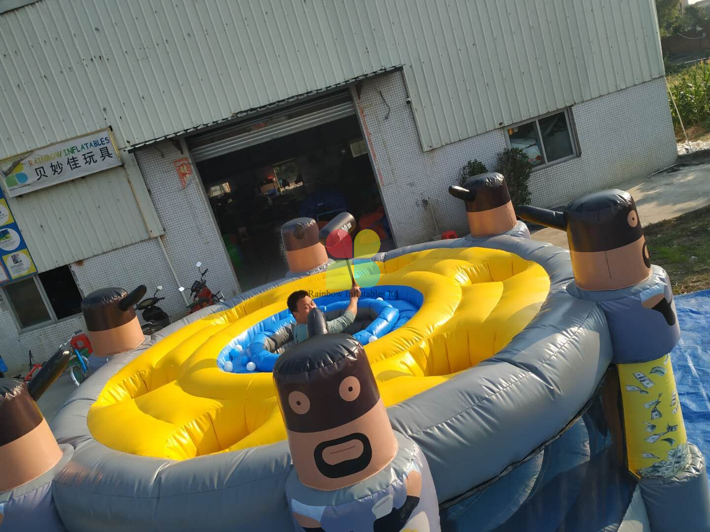 Inflatable Whack A Mole for Adults Outdoor Inflatable Games