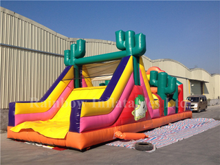 RB5037(13x4m) Inflatable Rainbow attractive obstacle course for sale