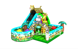New Design Commercial Inflatable Zoo Funcity Playground for Children